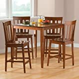 Mainstays 5-piece Counter Height Dining Set, Black Finish Review