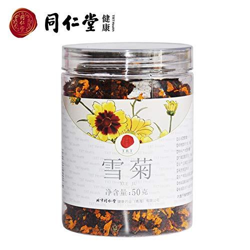 Beijing Tong Ren Tang Snow Chrysanthemum Chinese Xinjiang Kunlun Mountain Chrysanthemum Ju Hua Healthy Herbal Tea北京同仁堂雪菊