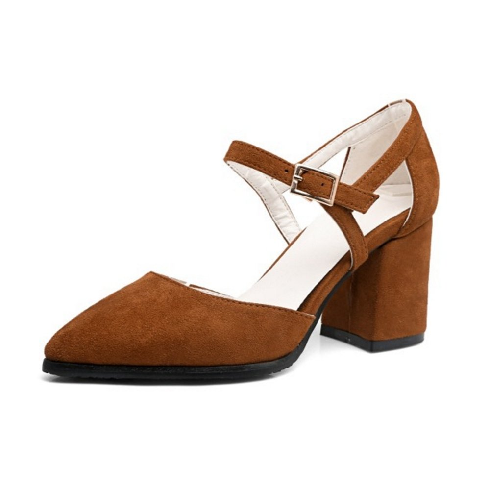 Smilice Women Dressy /& Elegant High Heeled Sandals Pointed Toe Buckle Strap Shoes