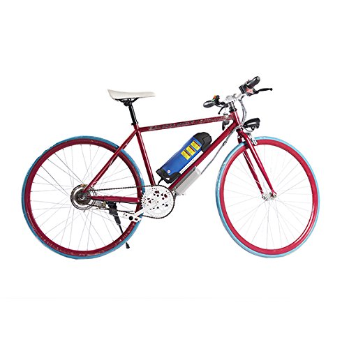 ELECTRIC Fixie Bike 350W 33MPH Alien Motor Wheels TM(CHERRY/BLUE/CHERRY/BLUE)