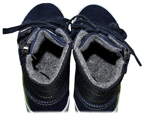 Richter Jugendschuhe 000065442417201 - Botas de Piel para niño azul oscuro
