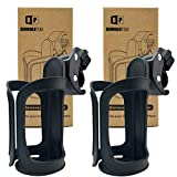 Pack of 2 Stroller Drink Holders, Universal Cup Holder for Bikes, Trolleys or Walkers