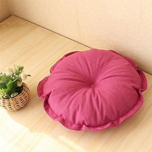 Cojín de asiento de algodón y lino para almohadas de silla o almohadas de bajera de piso, redondo, softrural, estilo Futon,...