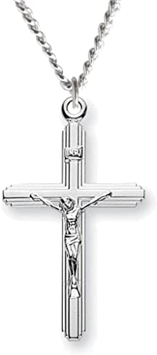 Sterling Silver Jewelry Pendants /& Charms Solid 16 25 Polished Textured Cross Pendant