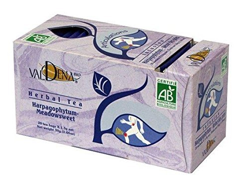 Valdena Bio Medicinal Herbal Tea - Meadowsweet-Devil's Claw 4 Packs - 80 Tea Bags