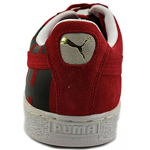 Puma Suede Classic + Big Logo Zapatillas Para Hombre 11.5 D (m) Us Red-black-white-suede