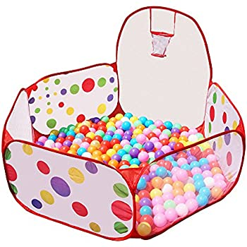 Jacone Extra Large Foldable Hexagon Polka Dot Ball Pit with Basketball Hoop- Indoor and Outdoor  sc 1 st  Amazon.com & Amazon.com: MAYMII Kids Ball Pit Ball Tent Toddler Ball Pit with ...