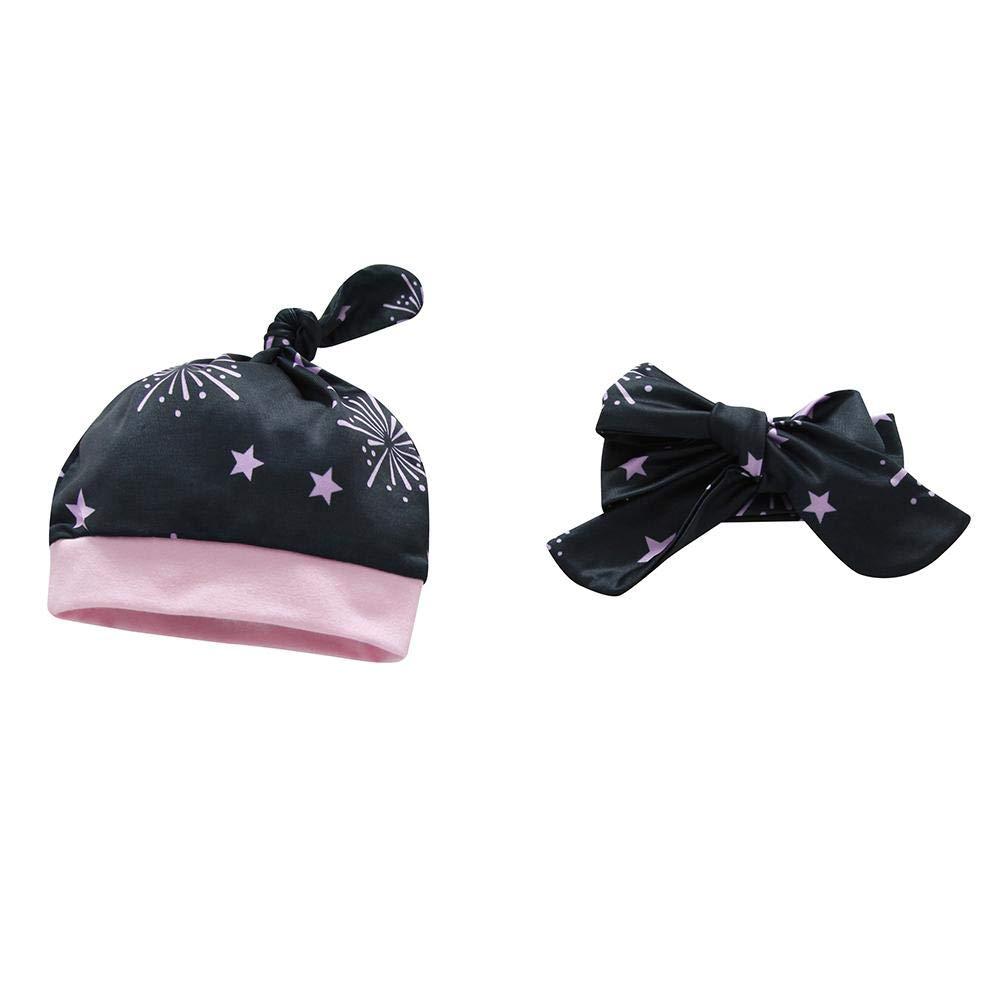 Diamondo Baby Long Sleeve Clothes Set 4pcs Letters Print Romper Pants Headband Hat