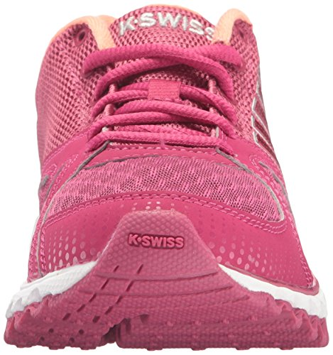 K-Swiss Women's X-160 CMF Cross-Trainer Shoe, Sangria/Fusion Coral, 8 M US