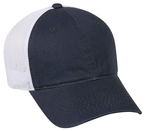 Outdoor Cap Garment Washed Meshback Cap, True Navy/White, One Size