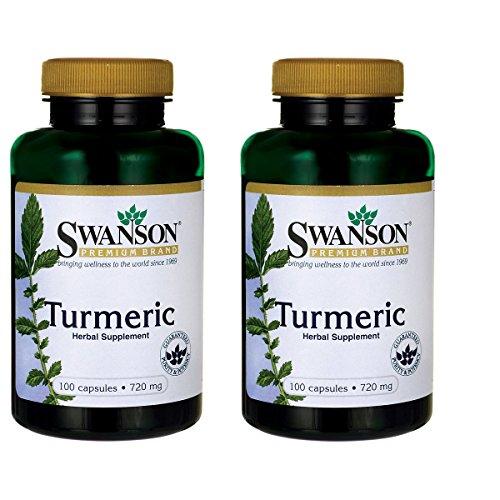 Swanson Turmeric Curcumin Antioxidant Joint Health Cardiovascular Liver Detox Mood and Memory Support Supplement Curcuma Longa (Rhizome) 1.44 Grams (1440 mg) 100 Capsules (2 Pack)