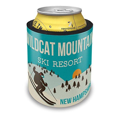 Slap Can Coolers Wildcat Mountain Ski Resort - New Hampshire Ski Resort Insulator Sleeve Covers Neonblond (Ski Wildcat)