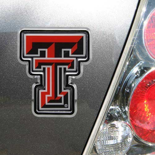 Football Fanatics NCAA Texas Tech Red Raiders Team Logo Color Chrome Auto Emblem by Football Fanatics