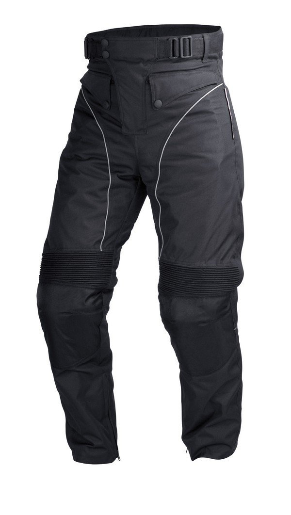 Mens Motorcycle Biker Waterproof Windproof Riding Pants Black with Removable Armor