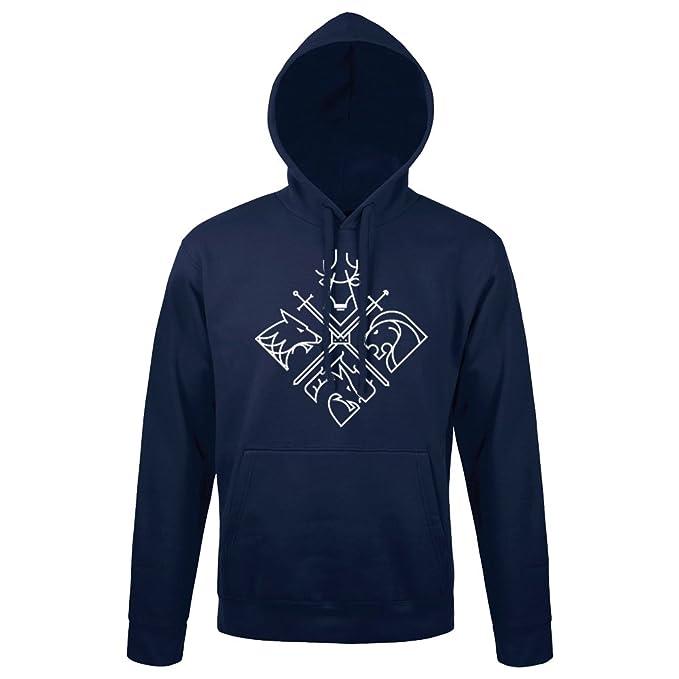 Sudadera Minimal Thrones - Juego de Tronos - GOT - Color Azul Marino - Serigrafía de Alta Calidad: Amazon.es: Ropa y accesorios