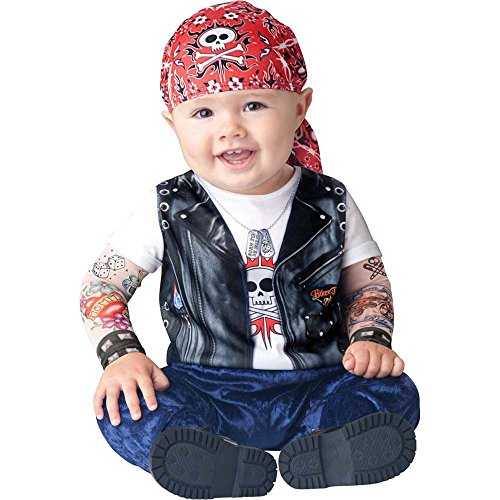 Born To Be Wild Biker Baby Costume (Born To Be Wild Baby Infant Costume - Infant Medium)