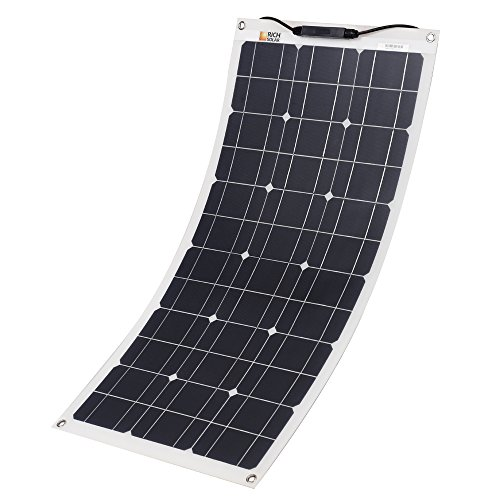 RICH SOLAR 50 Watt 12 Volt Flexible Monocrystalline Lightweight Solar Panel for RV, Boats, Roofs, Uneven Surfaces, Ultra Thin with MC4 Connectors (50W Solar Panel) by Richsolar