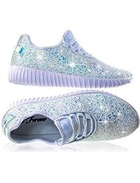 Remy-18 Women Jogger Sneaker-Lightweight Glitter Quilted...