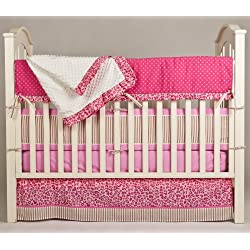 Pam Grace Creations Crib Bedding Set, Simply Cheetah