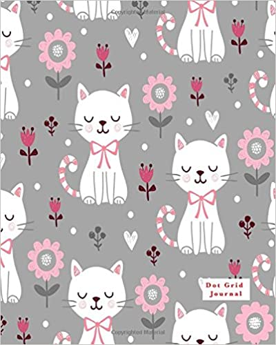 Dot Grid pages Dot Grid Journal Cute Cat Pattern