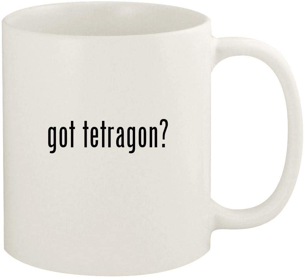 got tetragon? - 11oz Ceramic White Coffee Mug Cup, White