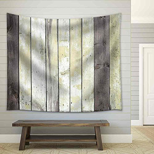 Grunge Wooden Plank Fabric Wall