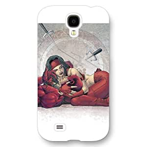 UniqueBox Customized Marvel Series Case for Samsung Galaxy S4, Marvel Comic Hero Elektra Samsung Galaxy S4 Case, Only Fit for Samsung Galaxy S4 (White Frosted Case) wangjiang maoyi by lolosakes
