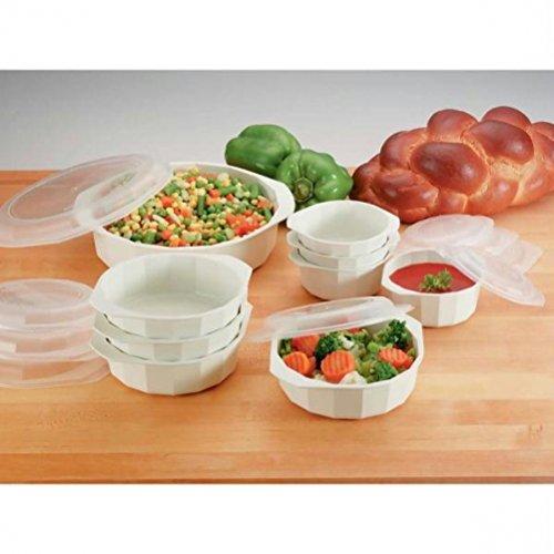 LaCuisine KTMW18 18 Piece Microwave Cookware Set, White