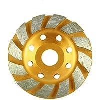 OEM Systems Company - Disco abrasivo per smerigliatrice, disco diamantato, a tazza, per marmo, calcestruzzo, diametro: 100 mm