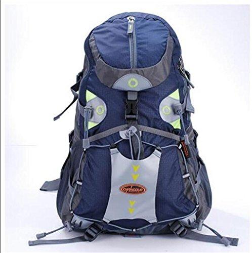 Spalle alpinismo borse da viaggio esterno del sacchetto di spalla zaino uomini e le donne che guidano il pacchetto di campeggio 28L + 5L ( colore : Verde , dimensioni : 28L+5L )