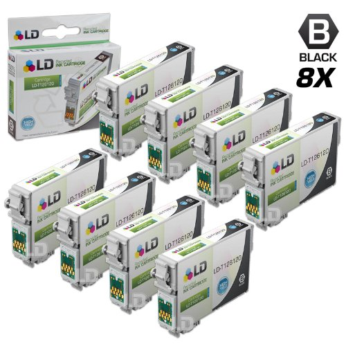LD Products Remanufactured Ink Cartridge Replacement for Epson T1261 ( Black , 8-pack)