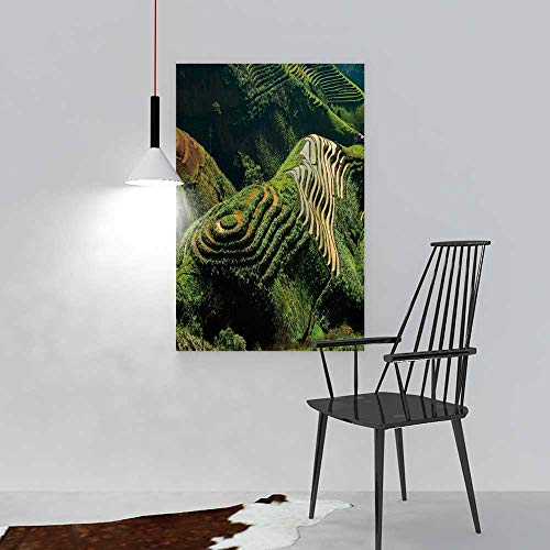 aolankaili Painting Living Room Decoration Frameless Amazing Landscape in Northwest Vietnam terraced Fields in ta xua bac for Living Room Office Decor Gift W24 x H36