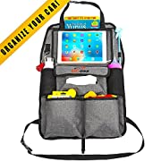 Car Organizer for Kids, Toddlers & Infant. Car Seat Organizer. Car Accessories for Kids. Backseat Car Organizer. Kick Mat & Backseat Protector with Touch Screen Pocket for Tablets up to 10.1""