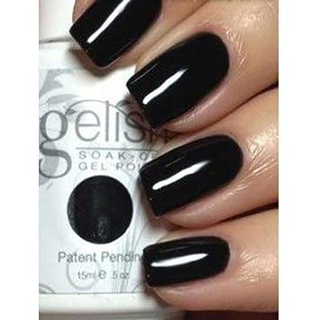 Amazon Com Gelish Soak Off Gel Nail Polish Black Shadow 0 5