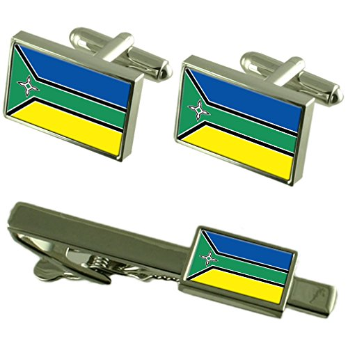 L'Amapa Cravate manchette drapeau un Ensemble cadeau correspondant