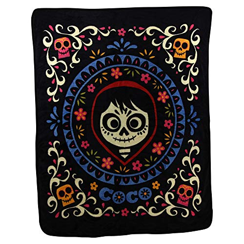 Northwest Kid's Colorful Character Micro Raschel Throw Blanket 46'' x 60'' (Coco Miguel) by Northwest