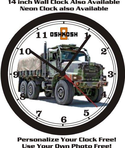 - OSHKOSH MILITARY CARGO TRUCK WALL CLOCK-FREE USA SHIP!