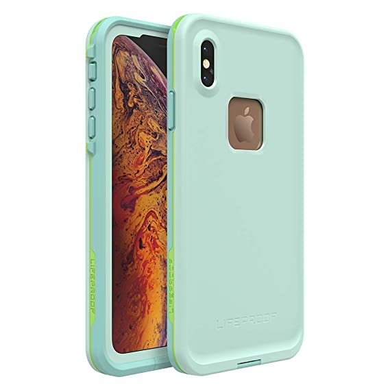 online retailer 9efc0 7a2f6 Lifeproof FRĒ Series Waterproof Case for iPhone Xs Max - Retail Packaging -  Tiki (FAIR Aqua/Blue Tint/Lime)