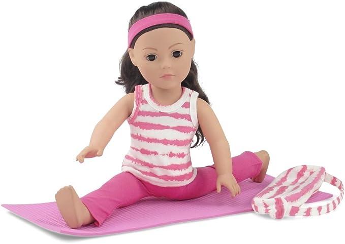 Amazon.com: Ropa de muñecas (18 inch | Rosa y Blanco ...