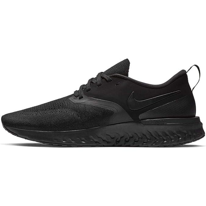 Nike Odyssey React Flyknit 2 Men's Running Shoe (9.5, Black/Black/White)