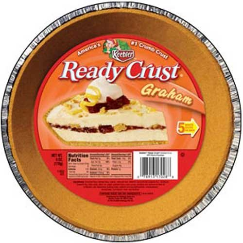 Kelloggs Keebler Ready Crust Graham Pie Crust, 6 Ounce -- 24 per case.