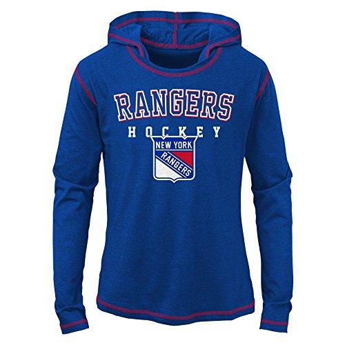 Rangers Fan - NHL New York Rangers Youth Girls Loud Fan Drop Shoulder Tee, Royal, X-Large(16)