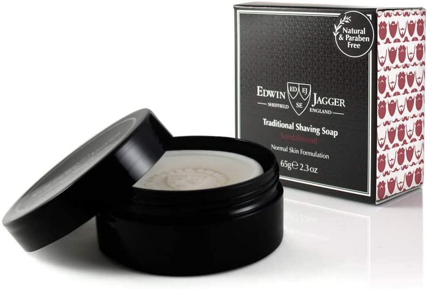 Edwin Jagger 99.9% Natural Sandalwood Shaving Soap In 65 G Travel Tub