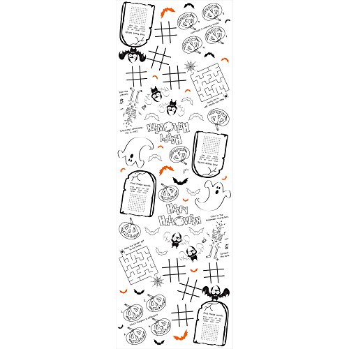 Halloween Kids Activity Paper Tablecover is one of our favorite fun camping Halloween decorations for your campsite and ideas for decorating your RV