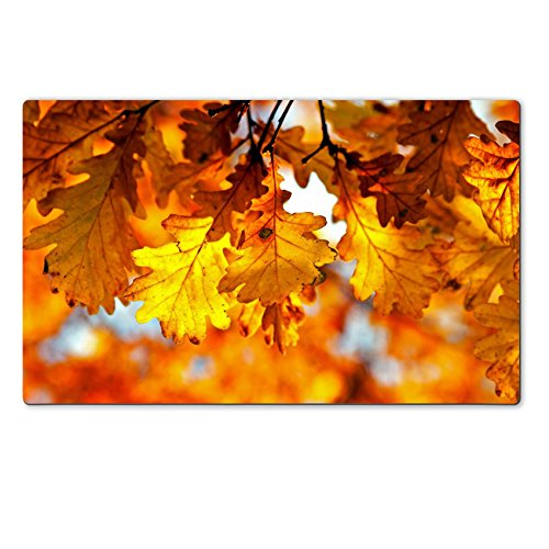 Personalized Oak Leaf Mat (Luxlady Large TableMat IMAGE ID 21249540 Autumn oak leaves in)
