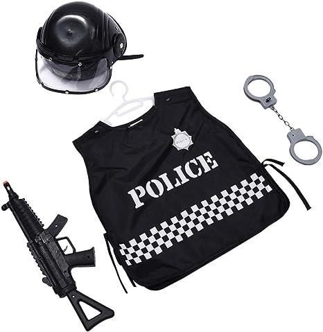 Amosfun 4 Piezas Disfraz De Policía para Niños Esposas Pistola ...
