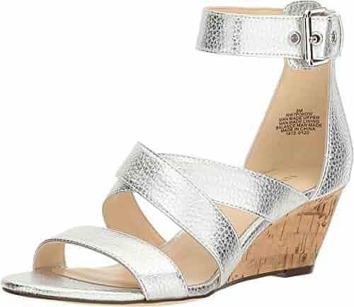 Nine West Women's Piwow Metallic Wedge Sandal