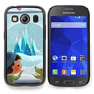 Stuss Case / Funda Carcasa protectora - Perrito de la historieta de la historieta Invierno - Samsung Galaxy Ace Style LTE/ G357