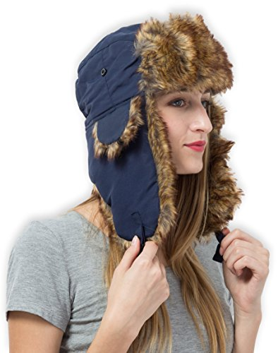 Trapper Hat Faux Fur Flaps