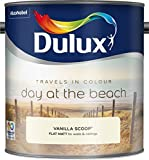 Dulux 500068 2.5 Litre Travels in Colour Flat Matt Paint - Vanilla Scoop by Dulux